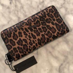 Mathew & Julian Leopard Zip Wallet/New